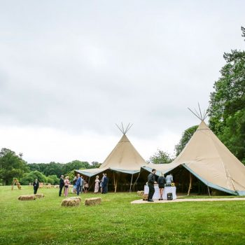 Outdoor tipi wedding