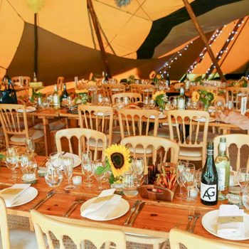 Wedding tipi interior