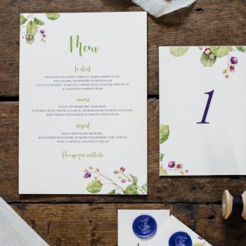 Vintage Botanical Wedding Shhot