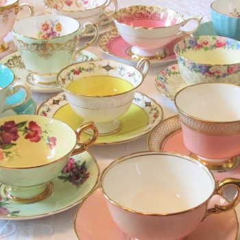 vintage china for weddings