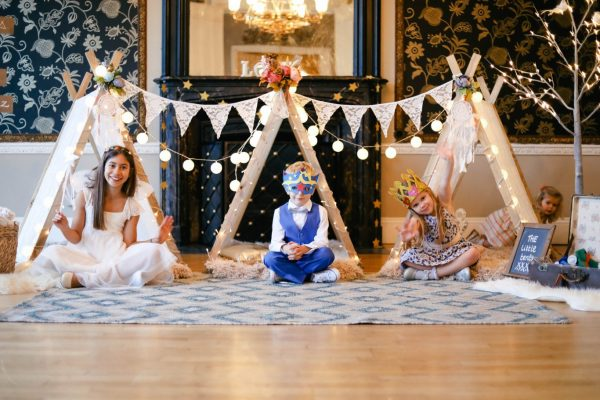 Kids tent weddings
